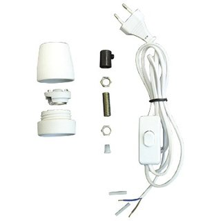 NT* Ceramik base Lamp E27. 2 m cable + euro plug